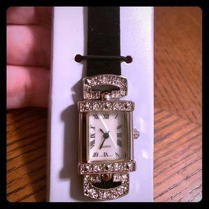 Vintage Rhinestone accent watch